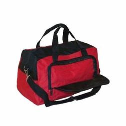 Duffle & Gym Bag-Red and Black with 3 zippered pockets and z