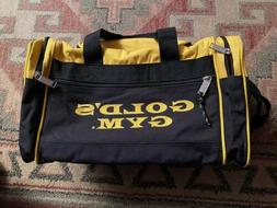 Golds Gym Duffle Bag w/ Shoulder Strap Small Yellow/black Si