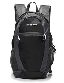 NeatPack Durable, Foldable Nylon Backpack / Daypack with Sec