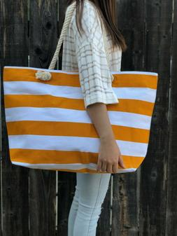 Extra Large Canvas Tote Bag-Beach Bag-Travel Picnic Gym Yell