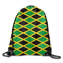 Flag Of Jamaica Drawstring Backpack Beam Mouth Gym Sack Ruck