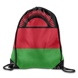 Flag Of Malawi Funny Gym Drawstring Bags Travel Backpack Tot
