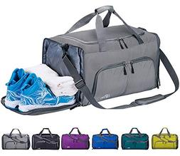 aa4845e421c9 FANCYOUT Foldable Sports Gym Bag with Shoes Compartment   We