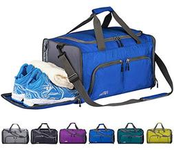 FANCYOUT Foldable Sports Gym Bag with Shoes Compartment & We