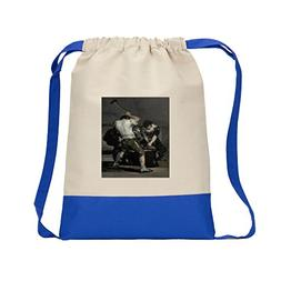 The Forge  Canvas Backpack Color Drawstring Bag - Royal Blue