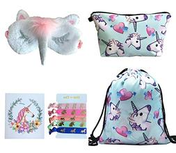 Unicorn Gifts for Girls 5 Pack - Unicorn Drawstring Backpack