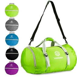 Freeman Green Foldable Sports Duffel Gym Bag for Women Men w