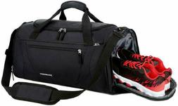 Gym Bag 40L Sports Travel Duffel For Men And Women With Shoe