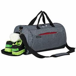 Kuston Sports Gym Bag with Shoes Compartment Travel Duffel B