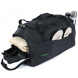b100cc0ec536 Lifewit Sport Gym Bag with Shoe Compartment Waterproof Large