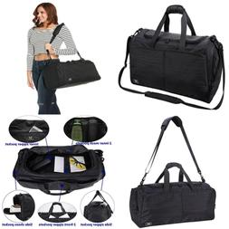 MIER Gym Bag For Women & Men Sports Duffle W Shoe Compartmen