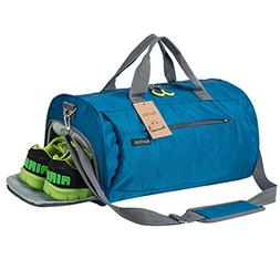 5f2c1f4fd8fe Kuston Sports Gym Bag with Shoes Compartment Travel Duffel B