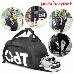 Gym Bag SMALL Travel Backpack Gym for Men & Women With Shoe
