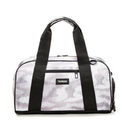 Vooray Gym Bag Snow Hex  Shoe Compartment NEW POPsugar gray