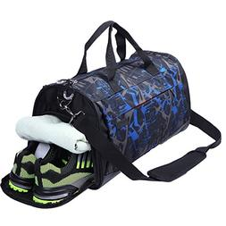 AiiGoo Sports Gym Bag Waterproof with Shoes Compartment Larg