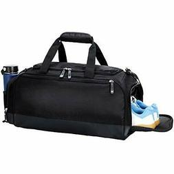 MIER Gym Bag with Shoe Compartment Men Travel Sports Duffel