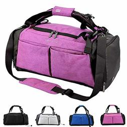 Gym Duffel Bag with Shoe Compartment Waterproof Sports Trave