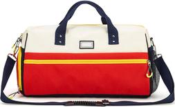 Gym Duffle Bag Sport Travel for Women Men with Shoe Compartm