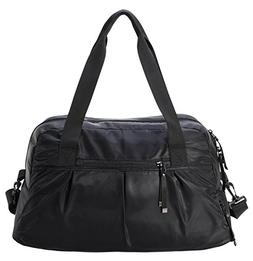 MIER Women's Gym Bag with Shoe Compartment Travel Duffel B
