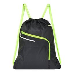 Saigain Men & Women Large Sport Gym Sack Drawstring Backpack