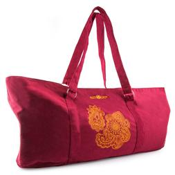 Peace Yoga Gym Workout Yoga Mat Tote Bag Carrier with Adjust