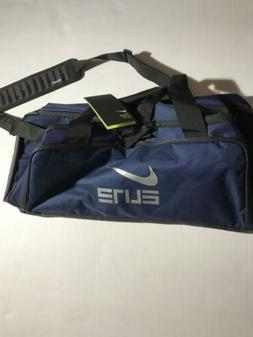 Nike Hoops Elite Max Air Duffle Gym Bag Navy Blue Silver BA5
