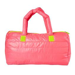 FUEL Hot Pink Gym Bag Duffle Zipper Women's Weekender Soft