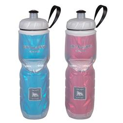 Polar Bottle Insulated Water Bottle - 24 oz, Red / Blue, 2-P