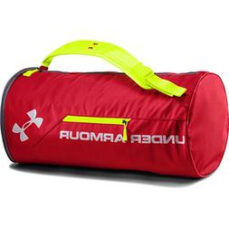 Under Armour Unisex Isolate Duffel Bag, Red/Silver, One Size