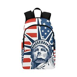 4th of July Satue of Liberty Custom Casual Backpack School B
