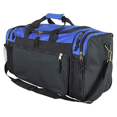20 inch sports duffle bag with mesh