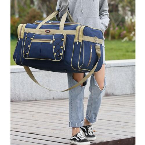 "25"" Men Travel Duffle Bag Sports Waterproof Blue New"