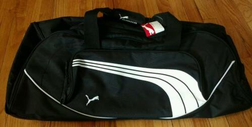 "28"" PUMA Rolling Duffle Luggage Suitcase Black Bag Mens Wome"