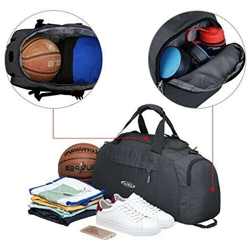 G4Free 3-Way Travel Duffel Backpack Luggage Gym Bag with