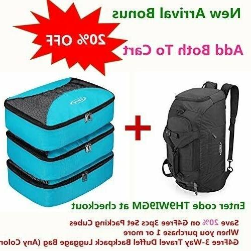 G4Free 3-Way Backpack Luggage Gym Sports Bag Compartment