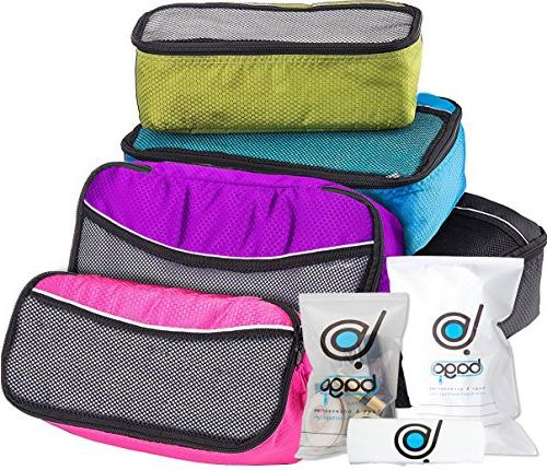 5 Packing Cubes For Travel Luggage or Suitcase + 6 Toiletry