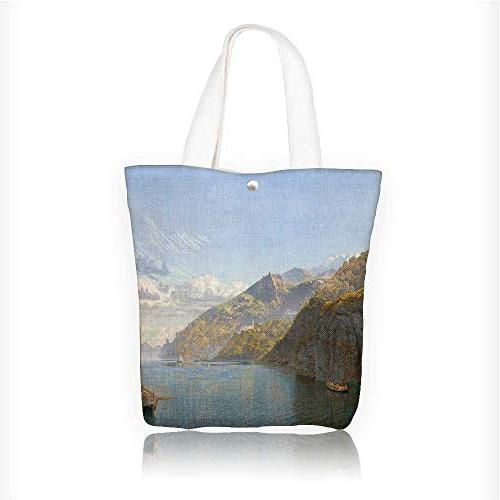 Canvas Beach Bags A Master S Beautiful Oil Painting Totes For Women Zippered Shoulder Bag W11xh11xd3 Inch