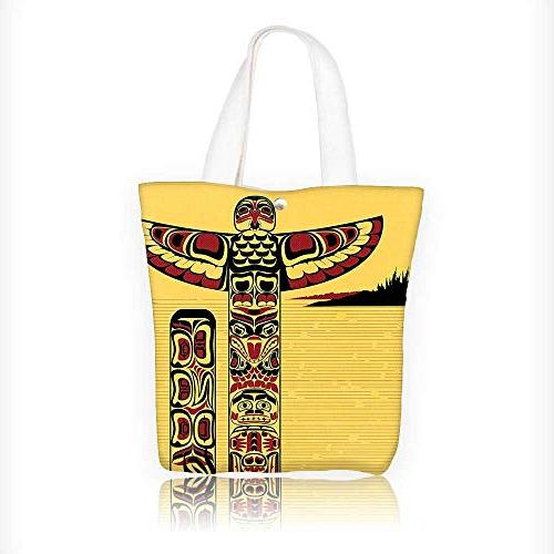 Canvas Beach Bags Native Of A North Totem