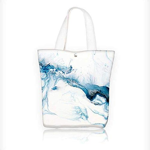 Canvas Beach Bags Blue Painted Background Wallpaper Texture