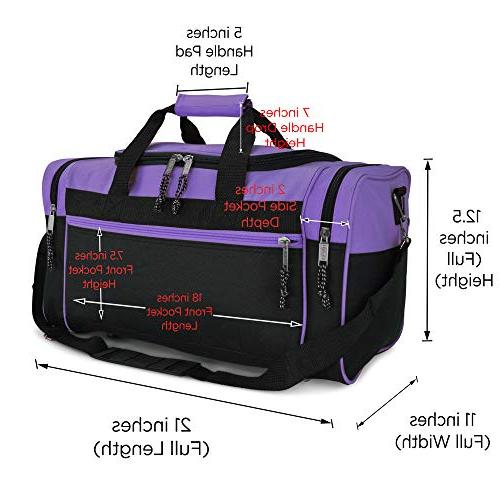 Duffle Bag Bag Travel with Adjustable Strap in Purple