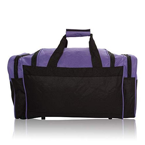 Duffle Bag Travel with Strap Purple