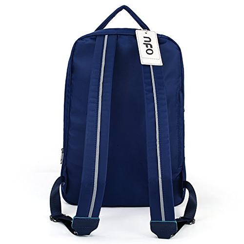 UTO Backpack Nylon Multi Fucntion School Bookbag Bag 3M Straps