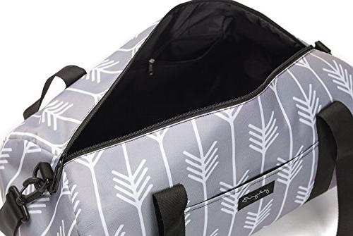 "Jadyn B 19"" Barrel Women's Duffel Bag, Tails"