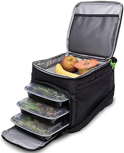 big cycle meal prep bag insulated portion control trays perf