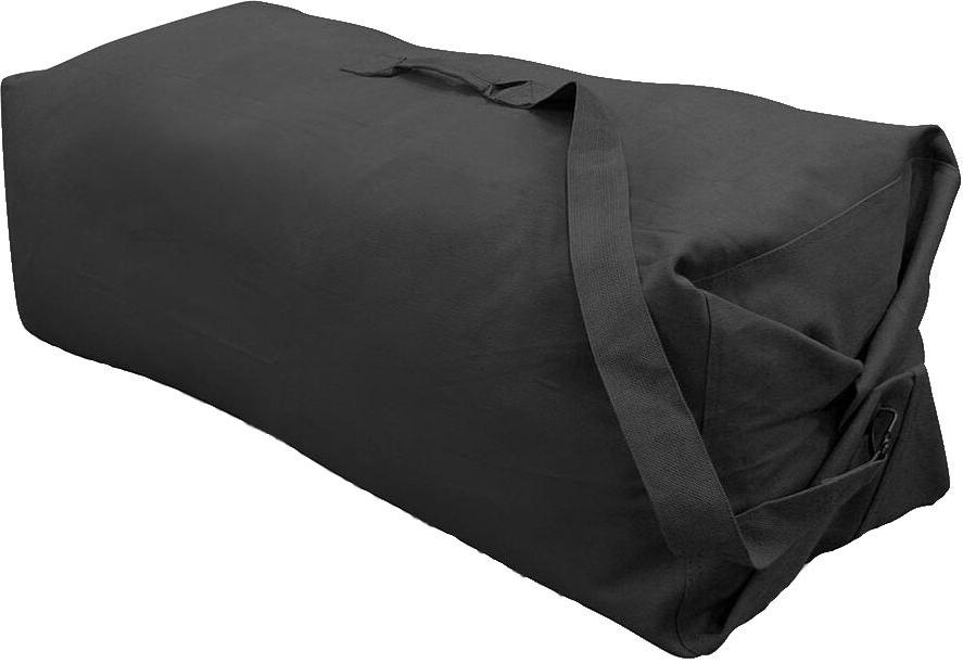 black heavyweight cotton canvas deluxe top loader