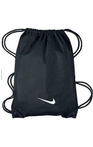 custom black nylon drawstring gym bag backpack