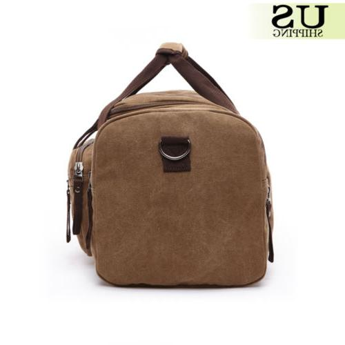 Canvas Large Men's Gym Shoulder Duffle & Strap