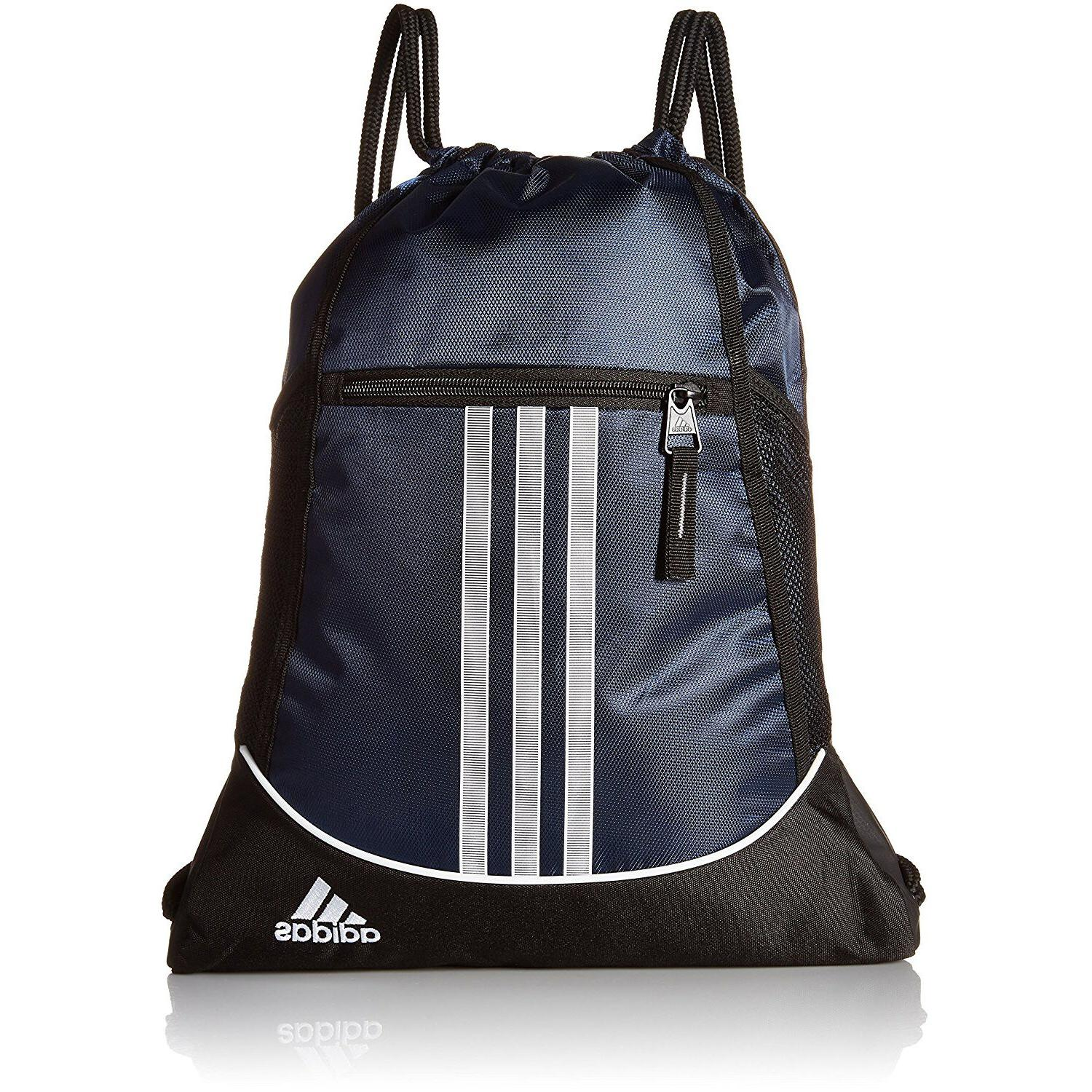 Adidas Drawstring Backpack Sport School Travel Sack Pack