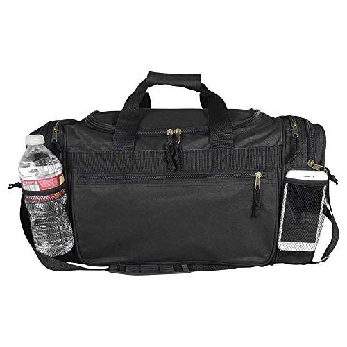 Dalix 20 Inch Duffle Bag with and Valuables Pockets, Black