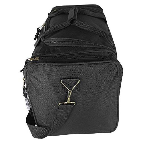 Dalix 20 Inch Duffle Bag with Mesh and Black